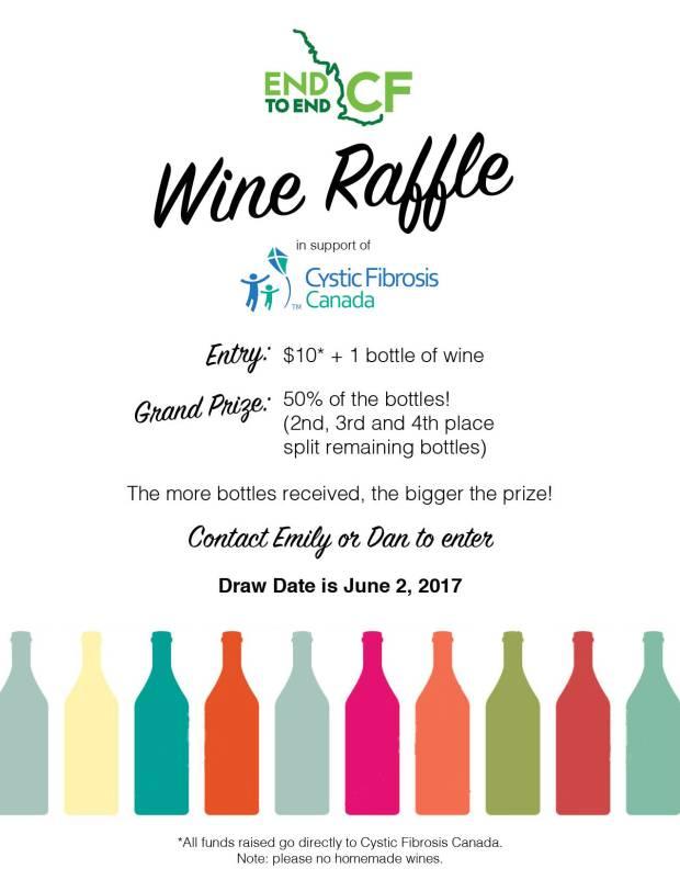 E2E Poster - Wine Raffle2